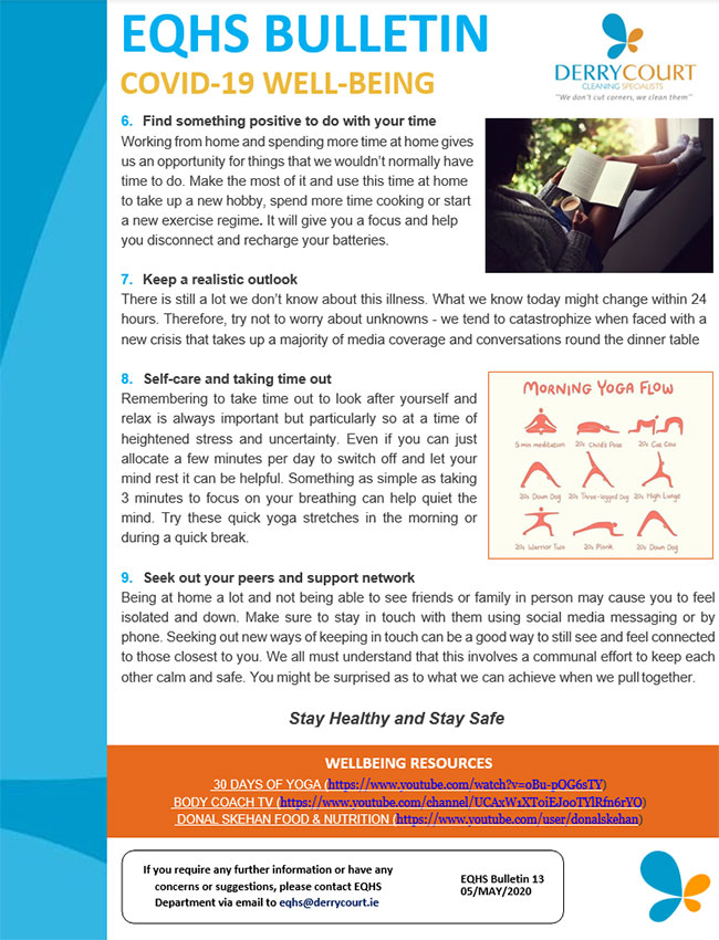 EQHS Bulletin COVID-19 Well Being