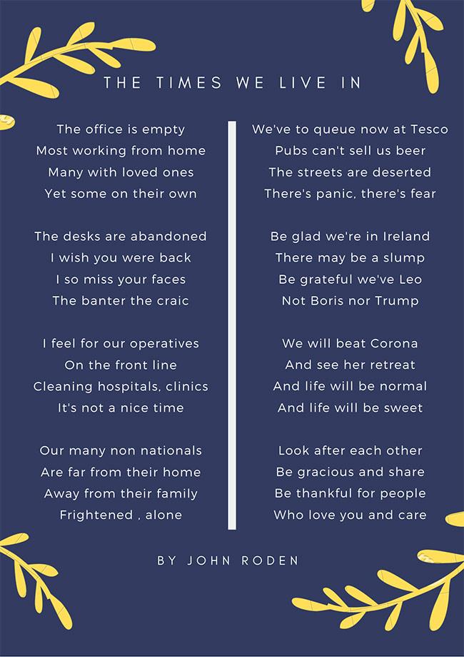 A Poem by John Roden